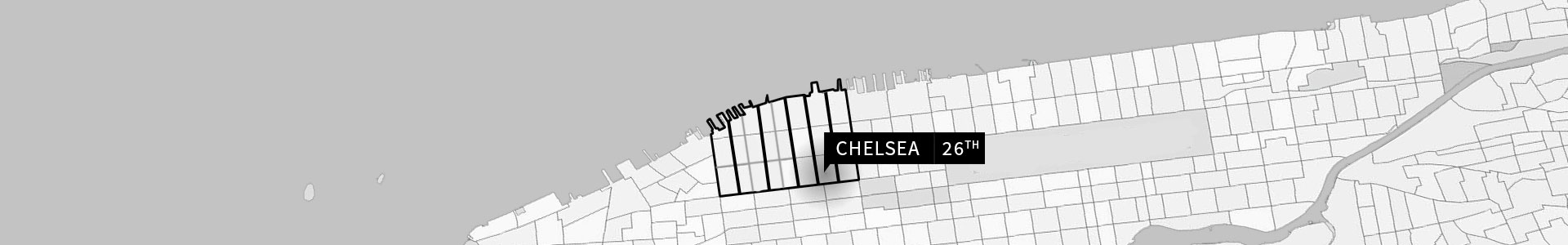 Chelsea, 26th Street map