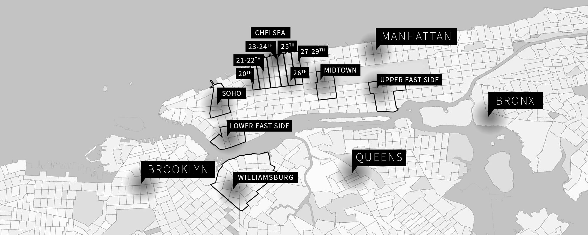 New York Art Galleries Guide Chelsea Galleries Map on